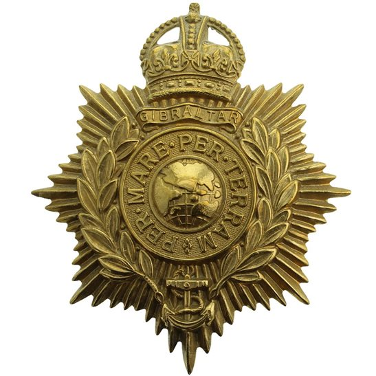 Royal Marines Royal Marines Corps HELMET PLATE Cap Badge