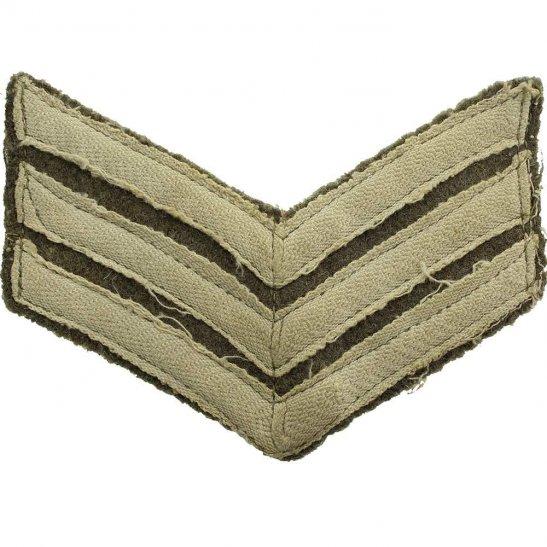 WW1 British Army Sergeants Cloth Chevron Insignia Rank Stripes
