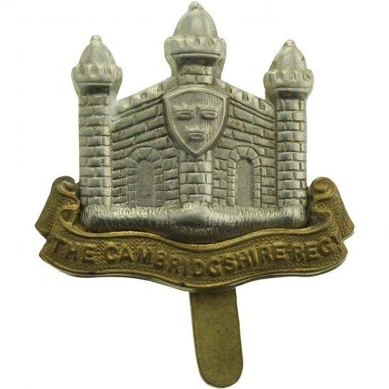 Cambridgeshire Regiment WW1 Cambridgeshire Regiment Cap Badge