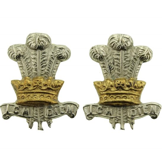 Leinster Regiment WW1 Leinster Regiment Irish Collar Badge PAIR