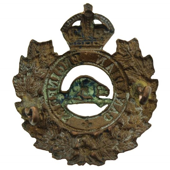 additional image for WW1 Canadian Engineers Corps Canada CEF Cap Badge