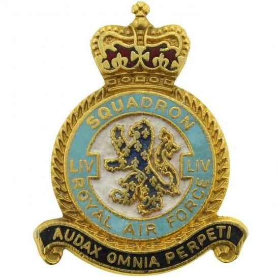 RAF Squadrons LIV 54 Squadron Royal Air Force RAF Lapel Badge