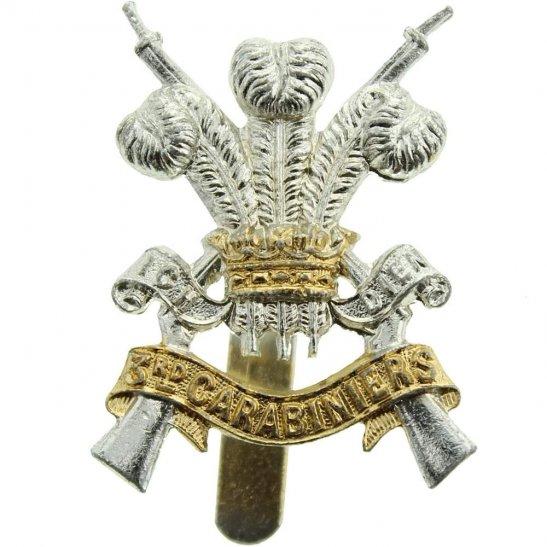 3rd Carabiniers 3rd Carabiniers Regiment Staybrite Anodised Cap Badge - Staybright