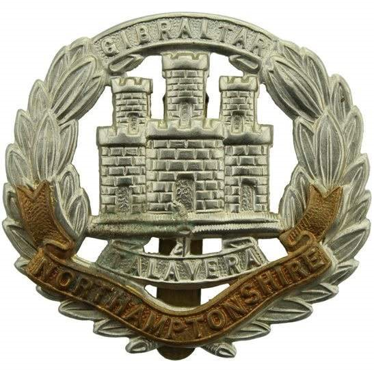 Northamptonshire Regiment WW2 Northamptonshire Regiment Cap Badge