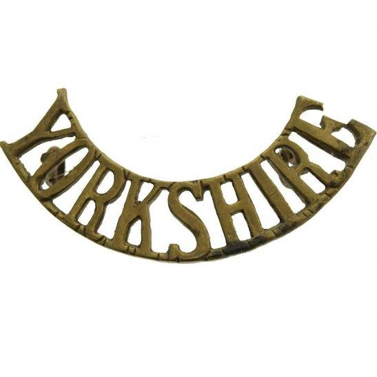 Kings Own Yorkshire Light Infantry KOYLI WW1 Kings Own Yorkshire Light Infantry (KOYLI) King's Shoulder Title