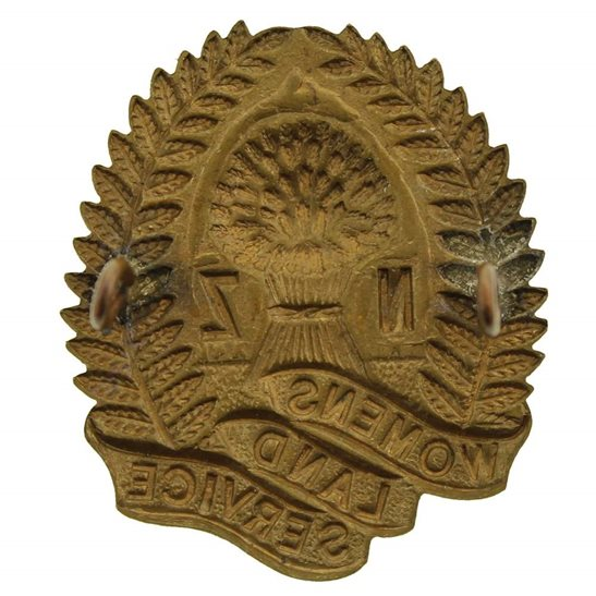 additional image for WW2 New Zealand Womens Land Army Service Cap Badge