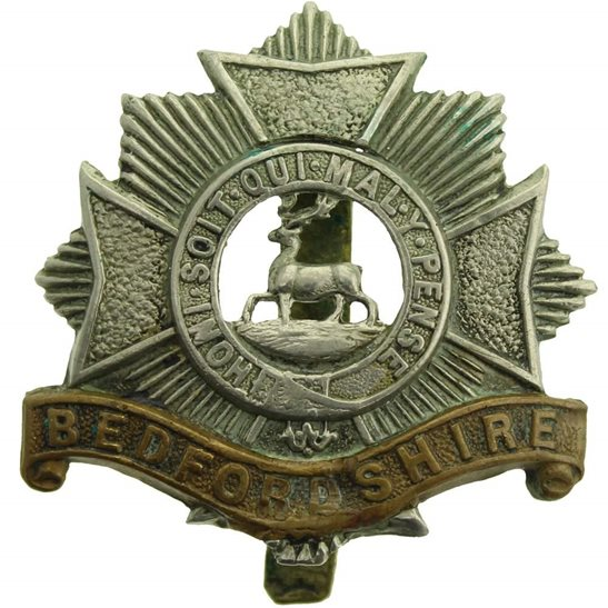 Bedfordshire Regiment WW1 Bedfordshire Regiment Cap Badge