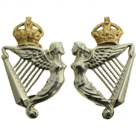 8th Hussars 8th Kings Royal Irish Hussars Regiment Collar Badge PAIR