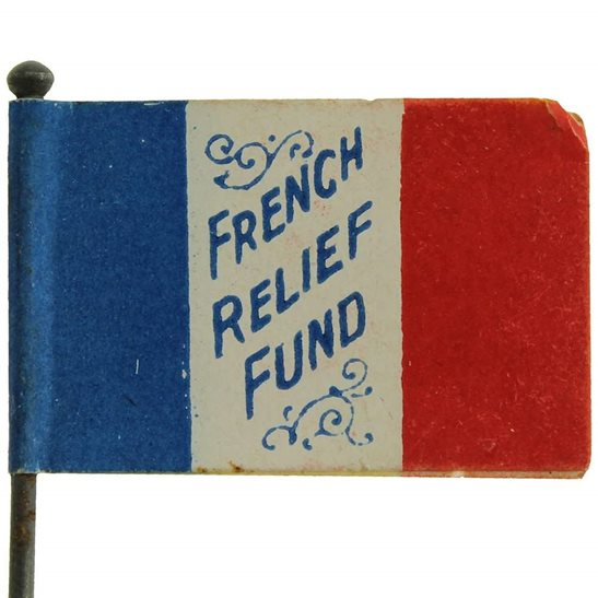 additional image for WW1 Scottish & French War Effort Flag Day Fundraising Pin Badge