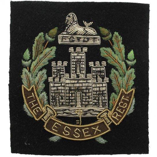 Essex Regiment The Essex Regiment Cloth Wire BULLION Veterans Blazer Badge