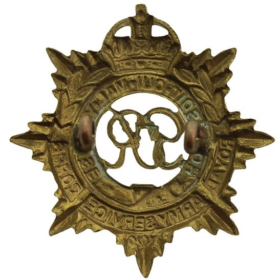 additional image for WW2 Royal Army Service Corps (George VI) RASC Cap Badge - LUGS VERSION