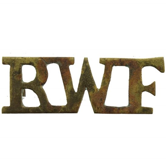 Royal Welsh Fusiliers Royal Welsh Fusiliers Regiment (Welch) RWF Shoulder Title