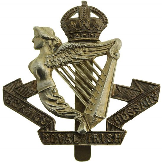 8th Hussars WW1 8th Kings Royal Irish Hussars Regiment (King's) Cap Badge