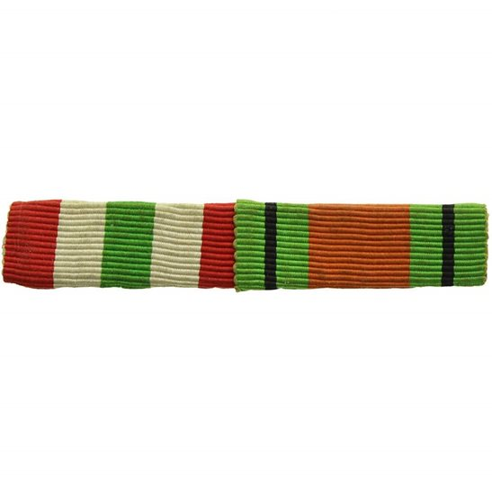 WW2 Medal Ribbon Bar - Italy Star & Defence Medal Pair - SEW ON
