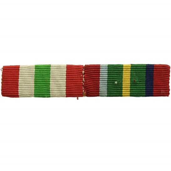 WW2 Medal Ribbon Bar - Italian Campaign Italy Star & Pacific Star - SEW ON