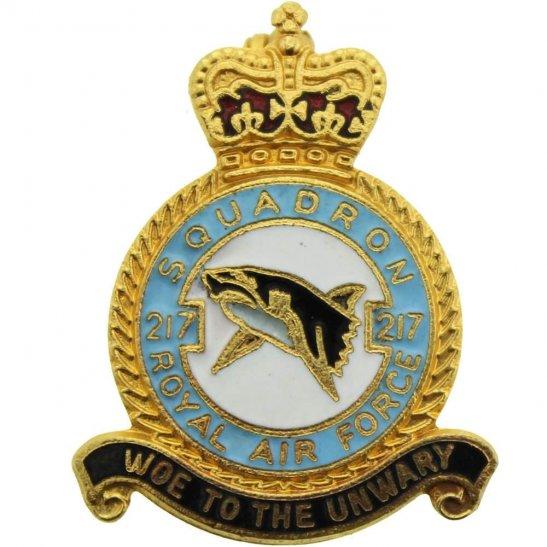 RAF Squadrons 217 Squadron Royal Air Force RAF Lapel Badge