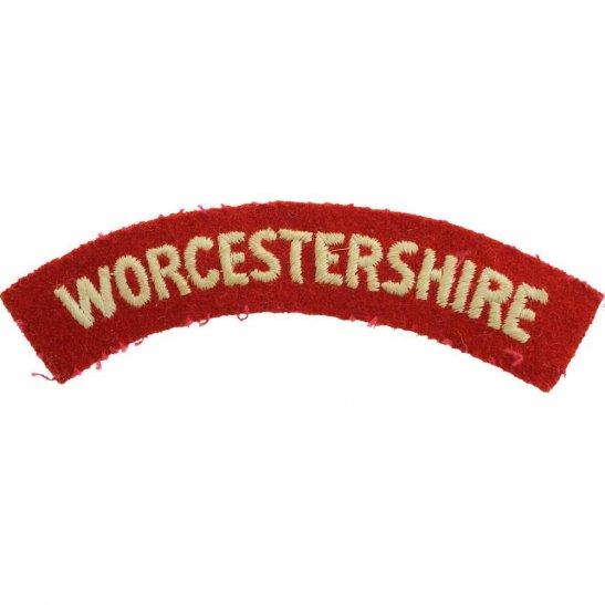 Worcestershire Regiment WW2 Worcestershire Regiment Cloth Shoulder Title Badge Flash