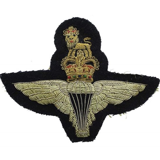 Parachute Regiment Parachute Regiment Paras Cloth Wire BULLION Veterans Blazer Badge - 4.5 inch