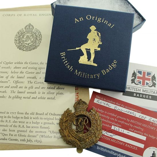 Royal Engineers Royal Engineers Corps Cap Badge in Presentation & Gift Box