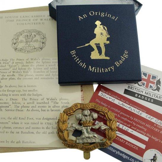 South Lancashire South Lancashire Regiment Cap Badge in Presentation & Gift Box