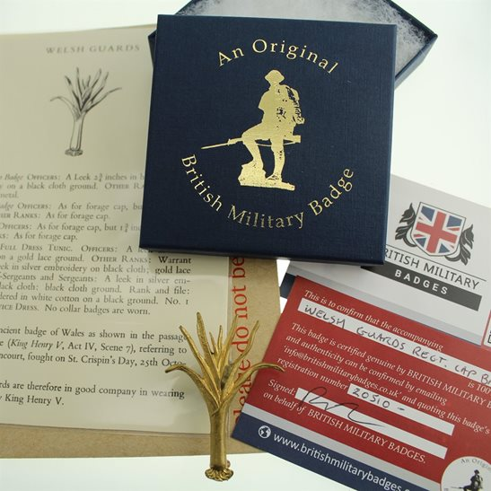 Welsh Guards Welsh Guards Regiment Cap Badge in Presentation & Gift Box