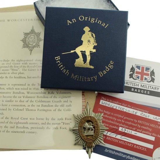Worcestershire Regiment Worcestershire Regiment Cap Badge in Presentation & Gift Box