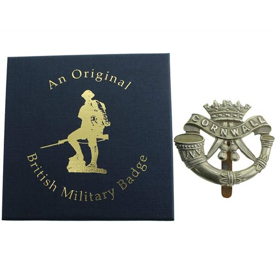 additional image for Duke of Cornwalls Light Infantry DCLI (Cornwall's) Cap Badge in Presentation & Gift Box