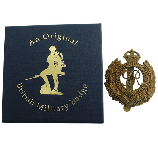 additional image for Royal Engineers Corps Cap Badge in Presentation & Gift Box