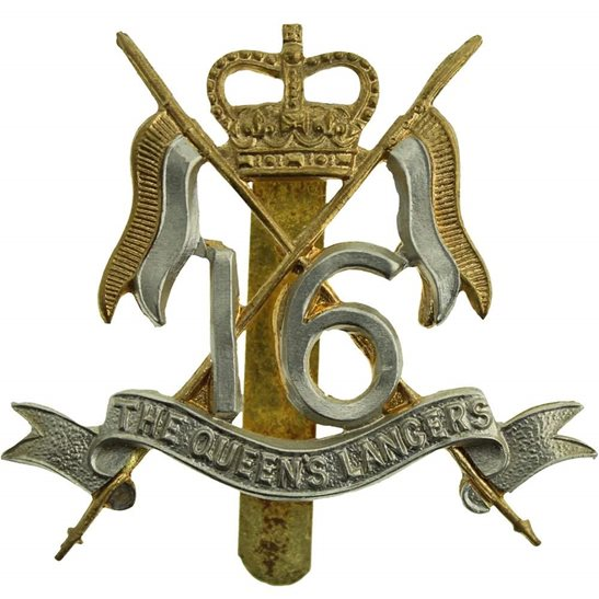 16th Lancers 16th (The Queens Lancers) Regiment Cap Badge - Queen's Crown