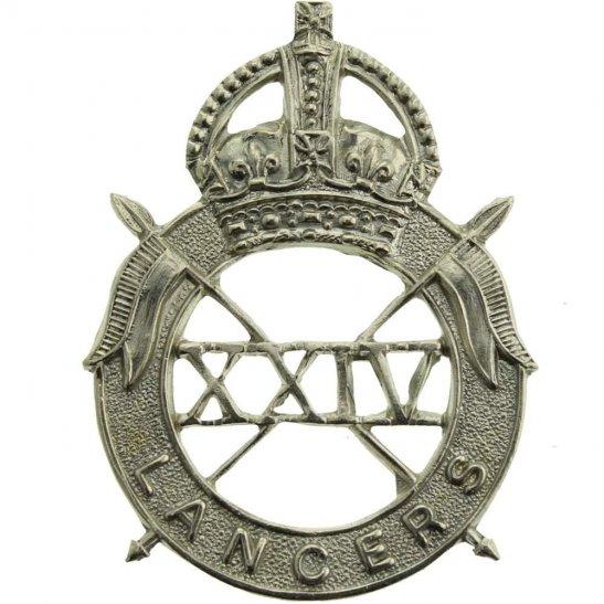 24th Lancers WW2 ISSUED 24th Lancers Regiment Cap Badge