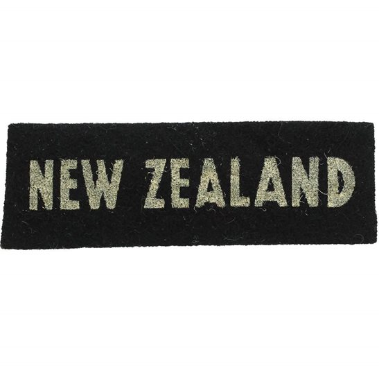 Norfolk Regiment WW2 New Zealand Army Corps NZEF Cloth Shoulder Title Badge Flash