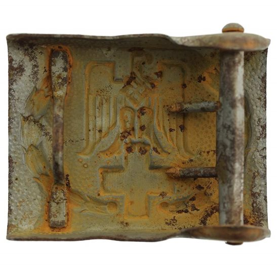 additional image for WW2 German Nazi Red Cross Belt Buckle