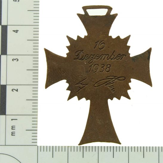 additional image for WW2 German Mothers Cross Medal 3rd Class Bronze Honour Badge
