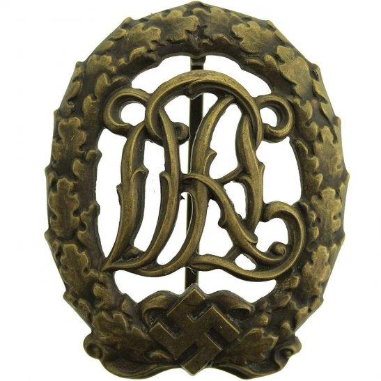 WW2 German Army WW2 NAZI German DRL Sports Badge, Bronze Grade