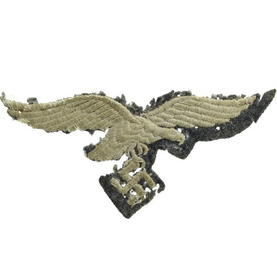 WW2 German Army WW2 German Luftwaffe Cloth Combat Tunic Uniform Eagle  Breast Badge