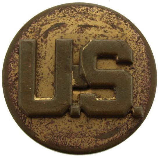 WW2 US Army WW2 United States US Army American Infantry Collar Badge - SCREW BACK