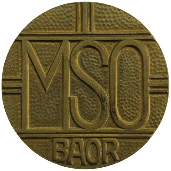 Mixed Services Organisation MSO British Army of Rhine BAOC Cap Badge