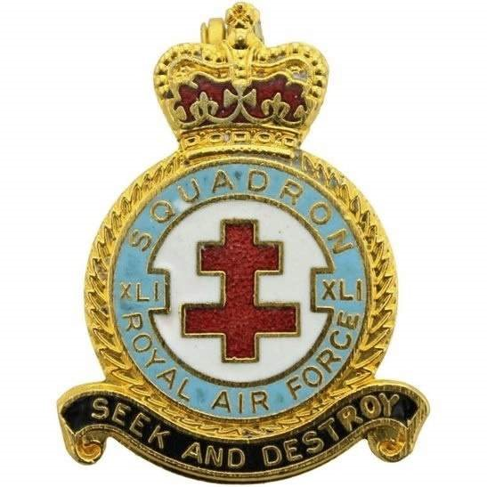 RAF Squadrons XLI 41 Squadron Royal Air Force RAF Lapel Badge