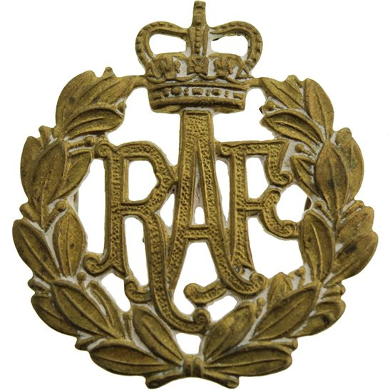 Royal Air Force RAF POST 1953 Royal Air Force RAF Cap Badge - Queens Crown