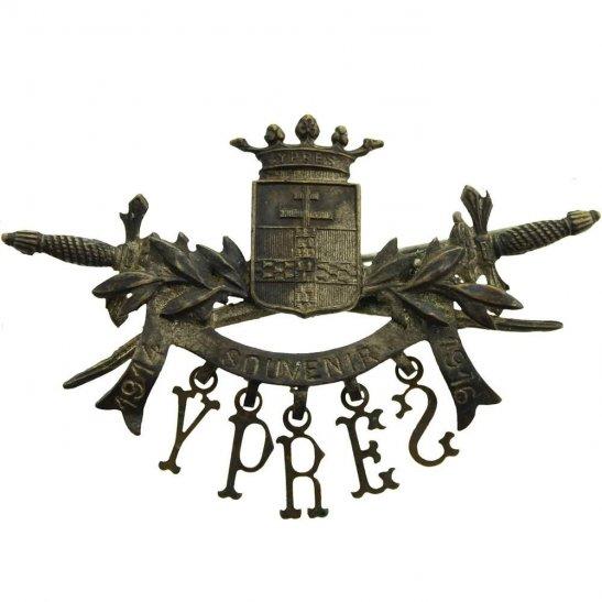 WW1 Ypres Salient Town 1914-1916 Battlefield Souvenir Sweetheart Brooch