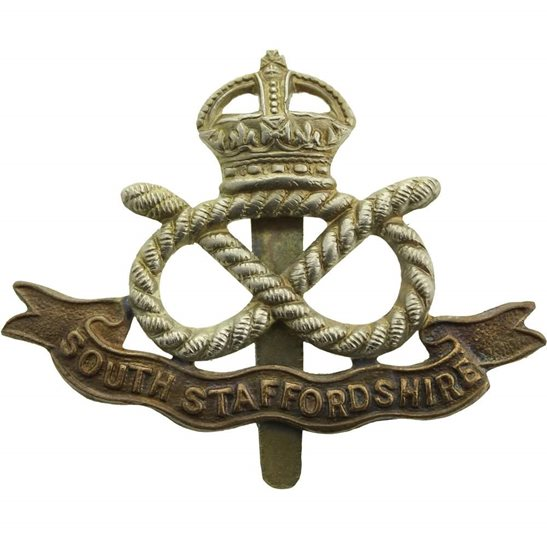 South Staffordshire WW2 South Staffordshire Regiment Cap Badge