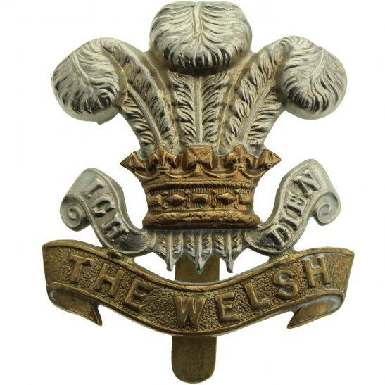 Welsh Regiment WW1 Welsh Regiment (Welch) Cap Badge