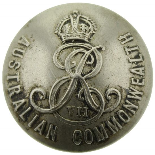 WW1 Australian Army EDWARDIAN Australian Military Forces Corps Tunic Button - 26mm