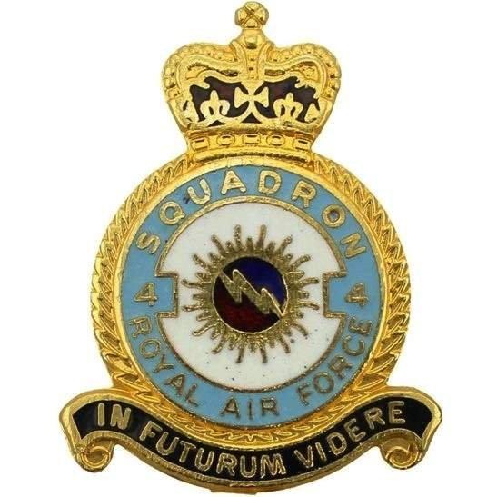 RAF Squadrons 4 Squadron Royal Air Force RAF Lapel Badge