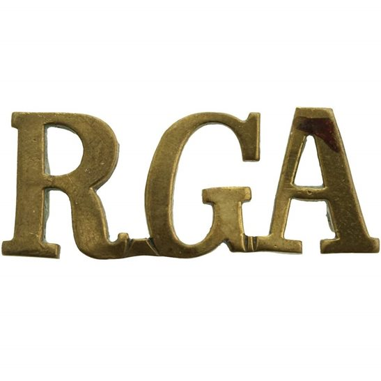 Royal Garrison Artillery RGA Shoulder Title
