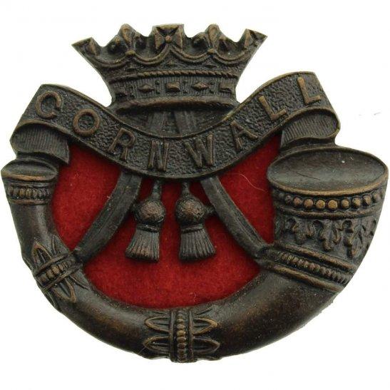 Duke of Cornwalls Light Infantry DCLI Duke of Cornwalls Light Infantry Regiment Cornwall's OFFICERS Bronze Collar Badge
