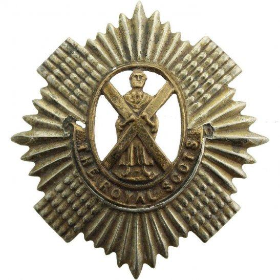 Royal Scots WW1 Royal Scots (Scottish) Regiment Cap Badge
