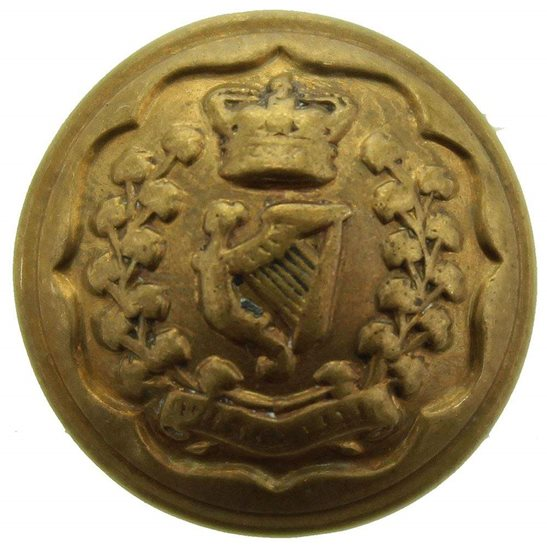 Connaught Rangers VICTORIAN Connaught Rangers Irish Regiment SMALL Tunic Button QVC - 17mm