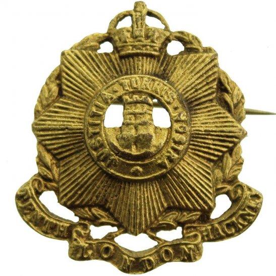 London Battalions 10th Tenth Hackney Battalion County of London Regiment Sweetheart Brooch Badge