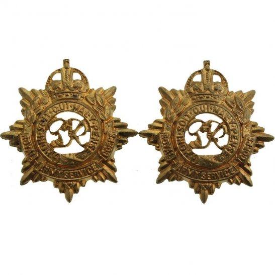 Royal Army Service Corps RASC WW2 Royal Army Service Corps RASC (George VI) Collar Badge PAIR